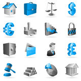 Vector business icons. Set of 16 vector business and office icons Stock Photo