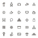 Vector Business icons, Forum Communications Team Royalty Free Stock Photos