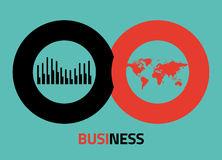 Vector business icons for infographics Royalty Free Stock Photography