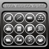 Vector Business icons set Royalty Free Stock Photos