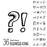 Vector Business Icons Royalty Free Stock Photo
