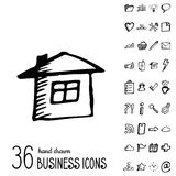 Vector Business Icons Royalty Free Stock Photography