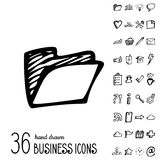 Vector Business Icons Stock Photography