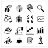 Vector of business icons set Royalty Free Stock Image