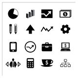 Vector of business icons set Stock Photos