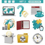Vector Business Icons Set 2. Isolated on white background Royalty Free Stock Photography