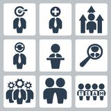 Vector business icons set Royalty Free Stock Photography