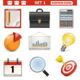 Vector Business Icons Set 1 stock illustration