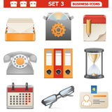 Vector Business Icons Set 3 Royalty Free Stock Photos