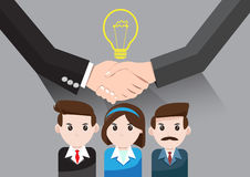 Vector Business idea for teamwork success. Vector Concept idea business teamwork success in gray background Royalty Free Stock Image