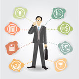 Vector Business idea work with icon Royalty Free Stock Photos