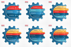 Vector business and industry gear style circle infographic templates set Stock Photo