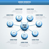 Vector business infographic. Abstract molecular structure backgr Royalty Free Stock Photos