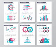 Vector business infographic brochure pages with demographics icons, charts and elements. Statistic page demographic, illustration of design business page with Vector Illustration