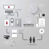 Vector business infographic corporate identity set design Royalty Free Stock Photos