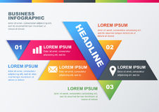 Vector business infographic design template. Concept for brochur vector illustration
