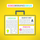 Vector business infographic template with a case Stock Image
