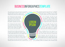 Vector business infographic template with a lamp Royalty Free Stock Photography