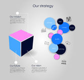 Vector business infographics Stock Images