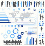 Vector of Business Infographics with Symbols and Charts.  Royalty Free Stock Photo