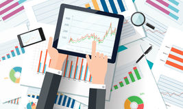 Vector business investment and finance concept Stock Photos