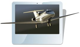 Vector business jet Royalty Free Stock Photos