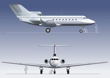 Vector business-jet Stock Photography