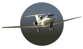 Vector business-jet Royalty Free Stock Photos