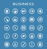 Vector Business Line Icons. Royalty Free Stock Photos