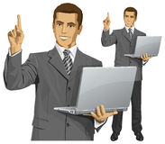 Vector Business Man Shows Something With Finger Stock Photo