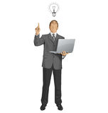 Vector Business Man Shows Something With Finger Stock Images