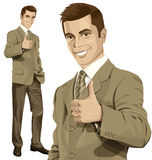 Vector Business Man Shows Well Done Royalty Free Stock Photos