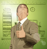 Vector Business Man Shows Well Done Stock Photos