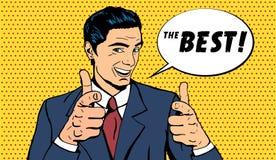 Vector business man telling The best vector illustration