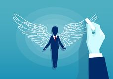 Vector of a business man with wings stock illustration