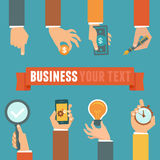 Vector business and management concept Stock Photography