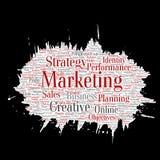 Vector business marketing target paint brush paper Stock Image