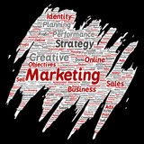 Vector business marketing target paint brush paper Stock Photos