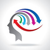 Vector of business mind with arrows Royalty Free Stock Photos