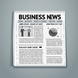 Vector business newspaper Royalty Free Stock Images