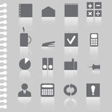 Vector business office flat icon set-illustration. Vector business office flat icon set-stock illustration Royalty Free Stock Photo