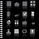 Vector business office flat icon set-illustration. Vector business office flat icon set- stock illustration Stock Image
