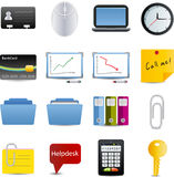 Vector Business and office icons set. Vector Business and office set of 16 icons royalty free illustration