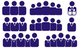 Vector business people Royalty Free Stock Images