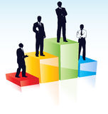 Vector business people. Stock Image