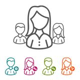 Vector Business People icons in thin line Style and flat Design. Vector Business People icons in thin line Style and flat Design for Websites and other stock illustration
