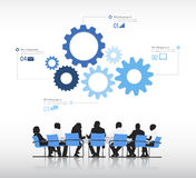 Vector of business people infographic Teamwork Concept Stock Images