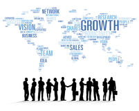 Vector of Business People Teamwork Royalty Free Stock Images
