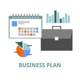 Vector - business plan Royalty Free Stock Photo