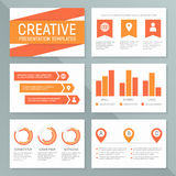 Vector business presentation template set. Graph and chart elements  template design Royalty Free Stock Photos